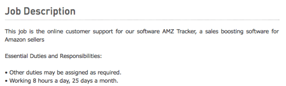 AMZ Tracker customer service ad