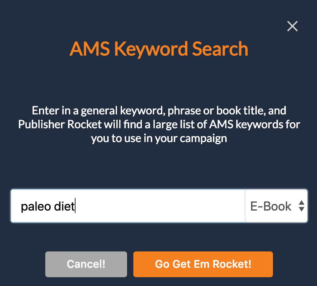 AMS keyword search