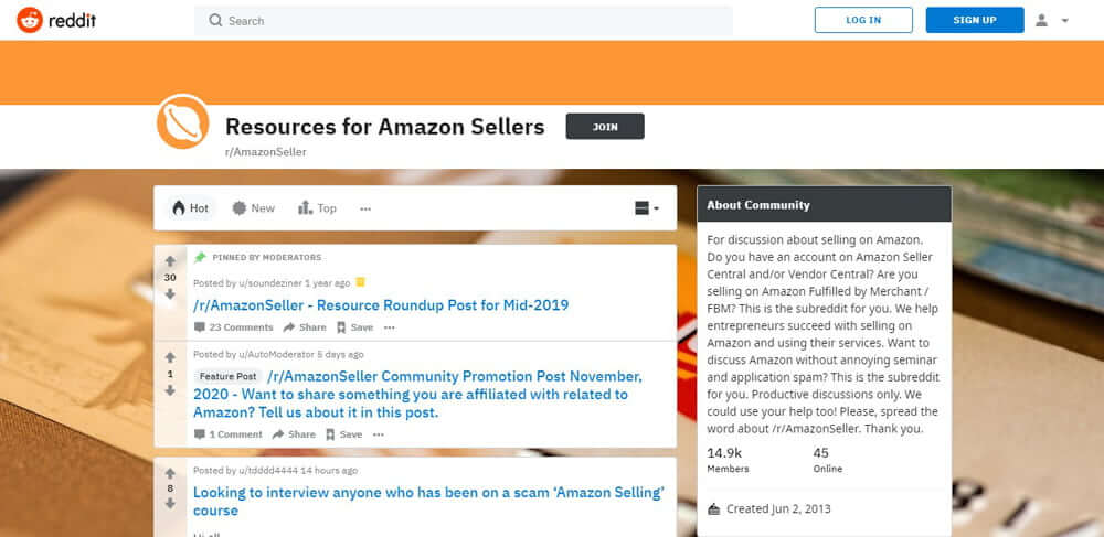 Resource for Amazon Sellers on Reddit